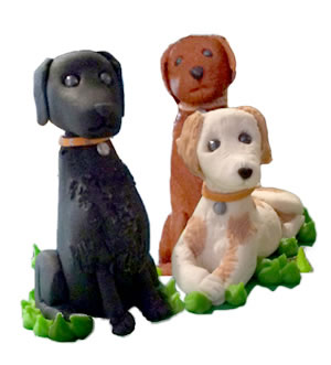 We Also Make Birthday Cakes With Toppers Shaped Like The Mans Best Friend Based On Your Own Dog Made Of Polymer Clay As A Keepsake