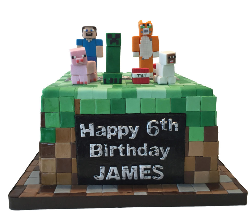 Minecraft style birthday cake for james maddies cakes minecraft style birthday cake for james thecheapjerseys Images